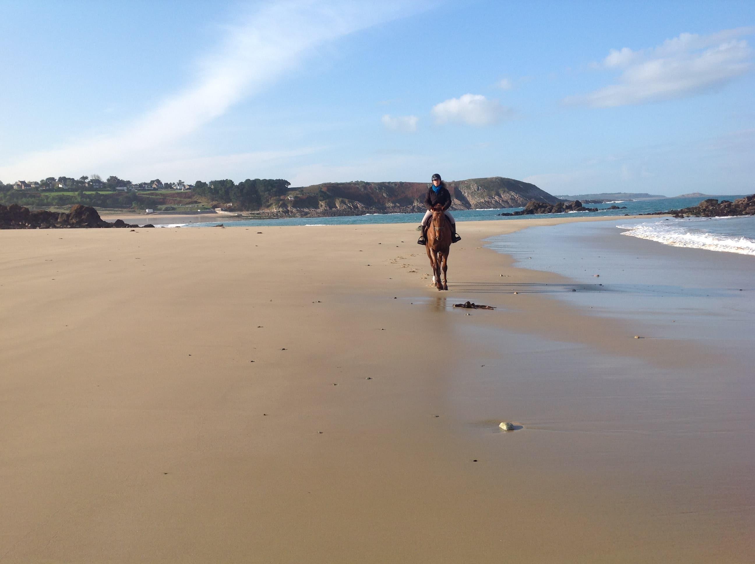 plage cheval vacances mer sejour gite equestre equibreizh